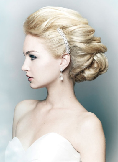Wedding bridal hairstyles at elysium hair beauty manchester classic bridal junglespirit Images